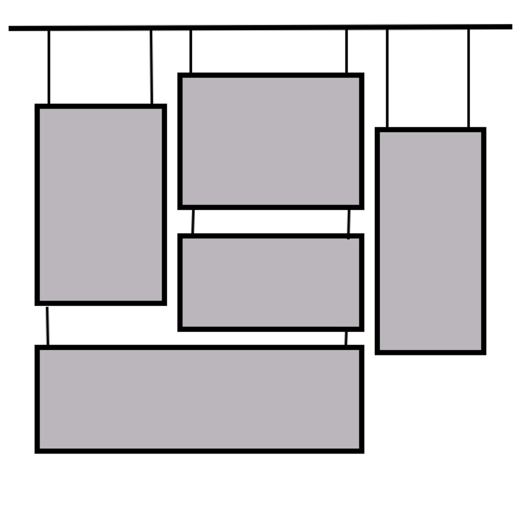 Art hanging system
