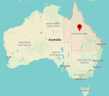 Image of Queensland on map