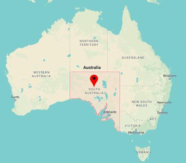 Image of SA on a map