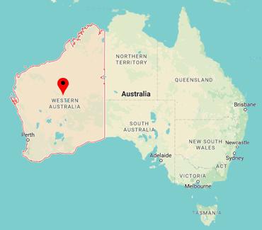 Image of WA on a map