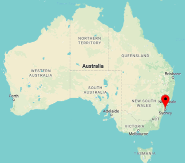 Image of NSW on map